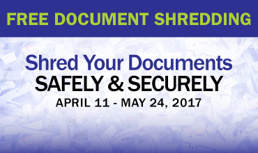 Free Document Shredding Banner Ad